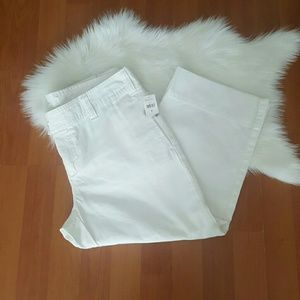 GAP womens white capri cropped chino pants size 8